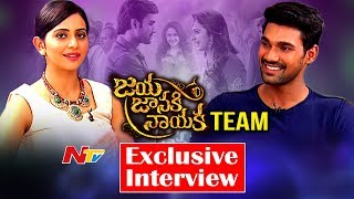 Rakul Preet Singh & Bellamkonda Sreenivas Exclusive Interview || #JayaJanakiNayaka || NTV