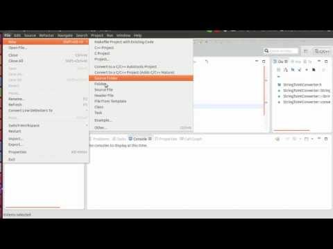 How to create a C++ project on Eclipse Juno