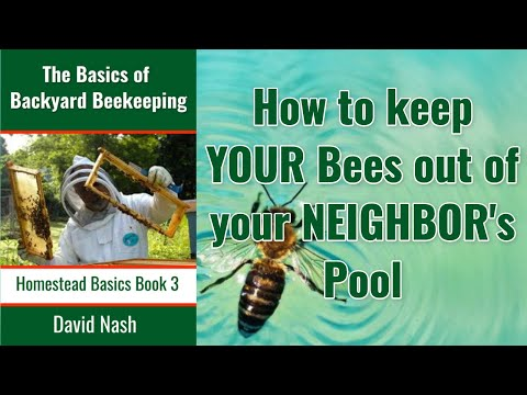 How To Keep Your Bees Out of Your Neighboor's Pool