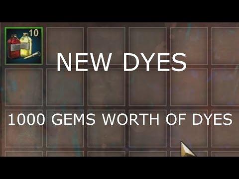 Gambling 10 Primordus Dye Kit(1000 gems) + Preview  |  Guild Wars 2