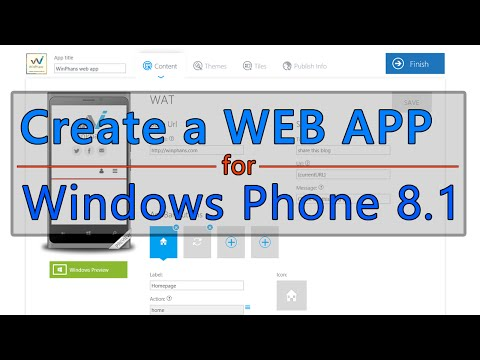 Create a Web app in 6 minutes for Windows Phone 8.1 + installations [TUTORIAL]