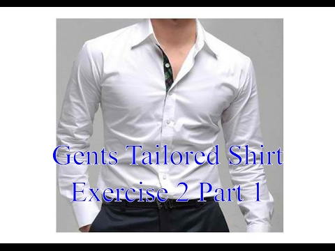 mens shirts - Exercise 2 part 1 - Attaching the yoke