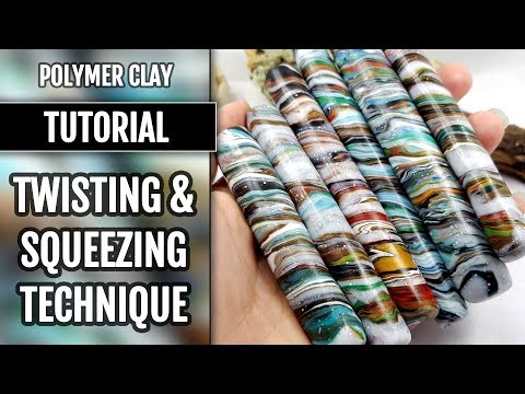 DIY Twisting&Squeezing Technique - Recycling the Polymer Clay Scraps and Leftovers!