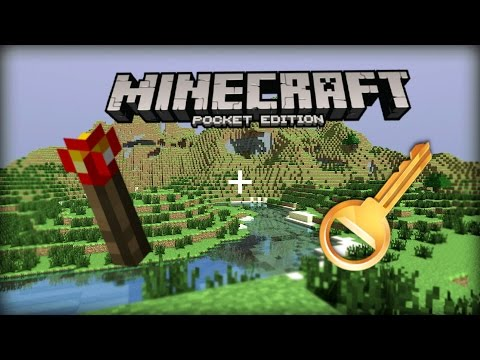 How to make a redstone torch key piston door (2x1). MCPE