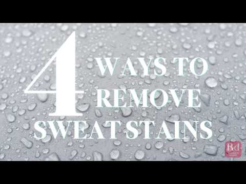 Ways to Remove Sweat Stains