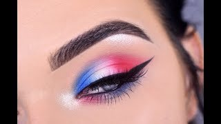 Download Fourth of July Eye Makeup Tutorial | Red White & Blue 🇺🇸 Video