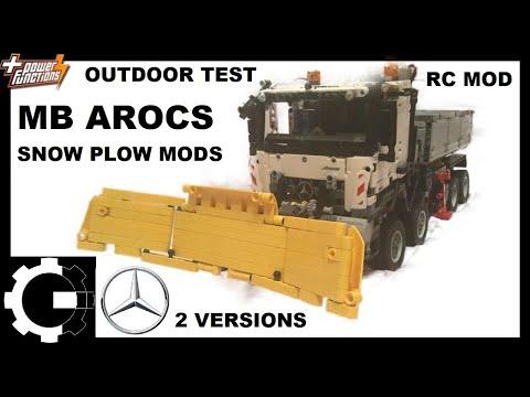 Lego 42043 MB Arocs: snow-plow with RC mod
