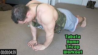 Intense Tabata At Home Tricep Workout (HIIT)