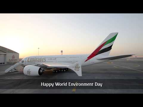 How to wash an A380 without water   World Environment Day   Emirates Airline