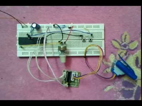 Unipolar stepper motor control using PIC18F4550 and ULN2003