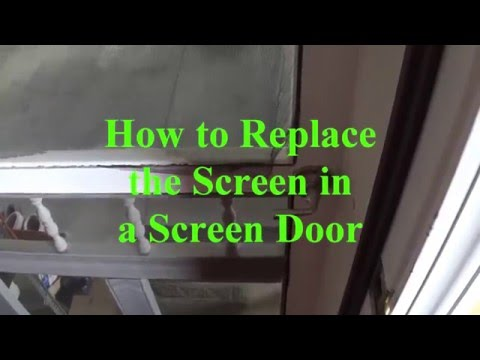 DIY - How to Replace the Screen in a Screen Door
