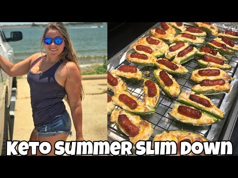 Keto Summer Slim Down Day 12   Full Day of Eating, Jalapeño Poppers & Fishing!
