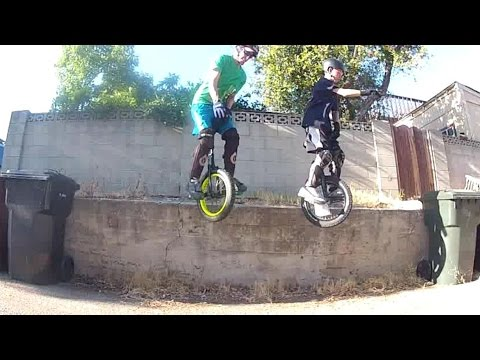 Unicycle Trials - Synchronized Wall Jump, etc.