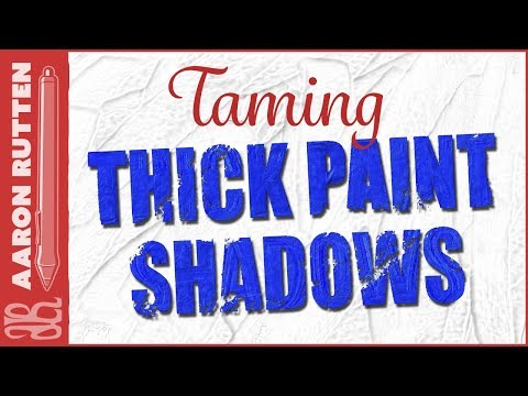 How to Tame THICK PAINT Shadows (Corel Painter 2018 Tutorial)