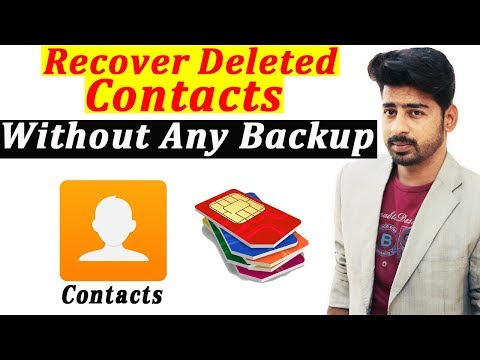 How can we recover deleted contacts from Android phone without Root and Backup 2018 | Urdu Hindi |