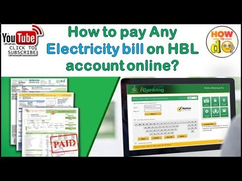 How to pay any Electricity bill on HBL Account online
