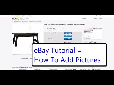How To Start Selling On eBay| Adding Pictures To The Description | Tips For Selling On eBay