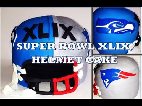 How to make a Super Bowl Cake featuring Seahawks & Patriots from Creative Cakes by Sharon