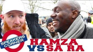 Hamza vs Sa Ra | Belief vs Knowledge | Can You Prove Allah? | Speakers Corner