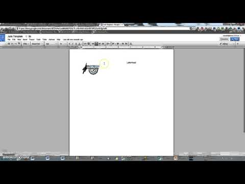 Creating a letterhead template in google docs