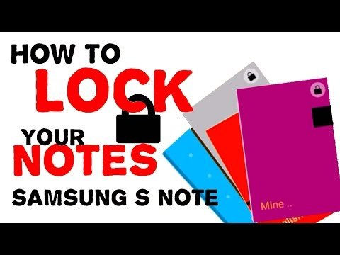 How to lock your notes with password