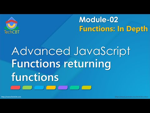 Advanced JavaScript - Module 02 - Part 06 - Functions returning functions