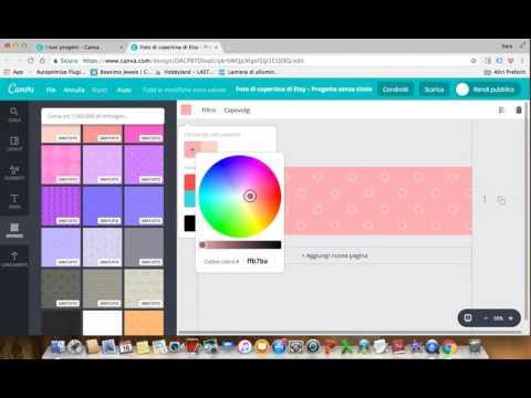 Creare banner Etsy e Youtube con Canva