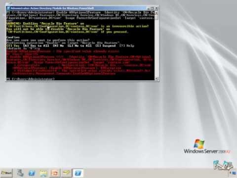 Windows Server 2008 R2 Quick Look #2 - Active Directory Recycle Bin