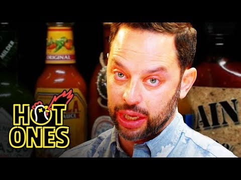 Xxx Mp4 Nick Kroll Delivers A PSA While Eating Spicy Wings Hot Ones 3gp Sex