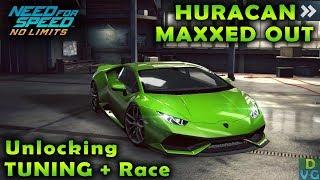Nfs No Limits | Lamborghini Huracan - Maxxed Out | Unlocking Tuning !