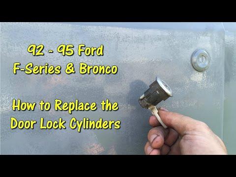 Remove & Replace Door Lock Cylinders on 92 - 95 F Series & Bronco Trucks by @GettinJunkDone