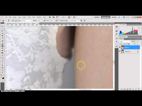 Use Photoshop to remove visible bra
