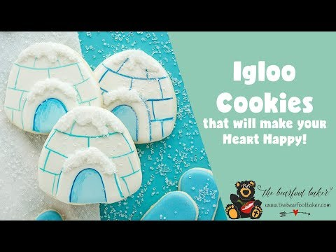 Igloo Cookies that will make your Heart Happy Sunny Side | The Bearfoot Baker