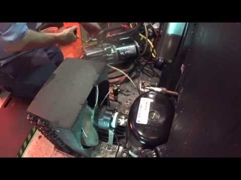 True Beer bottle cooler,  1/2 hp compressor change