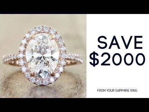 White Sapphire Engagement rings|Best Diamond Alternative Ring SAVE $2000