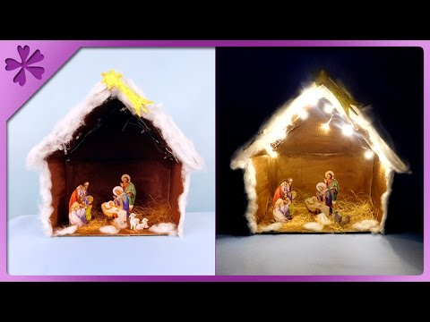 DIY Christmas crib with lights (ENG Subtitles) - Speed up #279