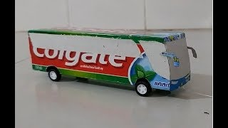 How to make bus of paper Easy- colgate
