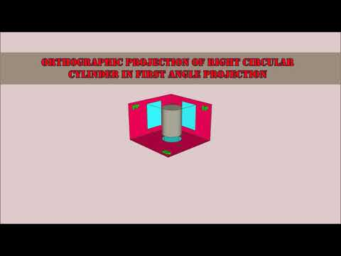 Orthographic projection of right cylinder through animation
