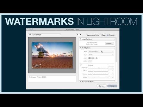 Add Watermarks in Lightroom 5 |
