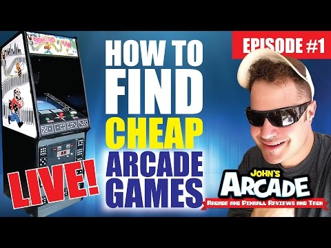 HOW TO FIND CHEAP ARCADE GAMES! LIVE! Craig's List Searching Tips - EPISODE #1
