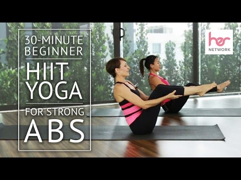 30-Minute Beginner HIIT Yoga for Strong Abs | HER Network