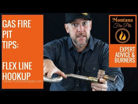 Flex Line Hookup for Gas Fire Pits