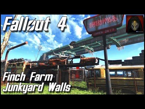 Fallout 4   Finch Farm Settlement - Junkyard Walls