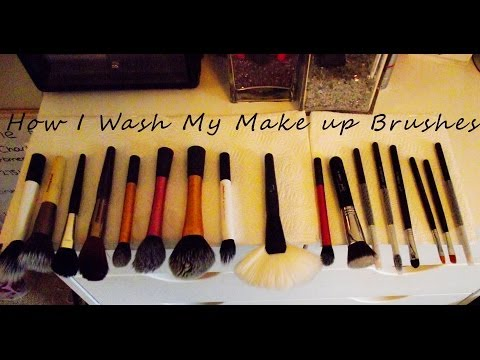 How I: Clean My Make Up Brushes   Make up Brushes   Real Techniques, Sigma