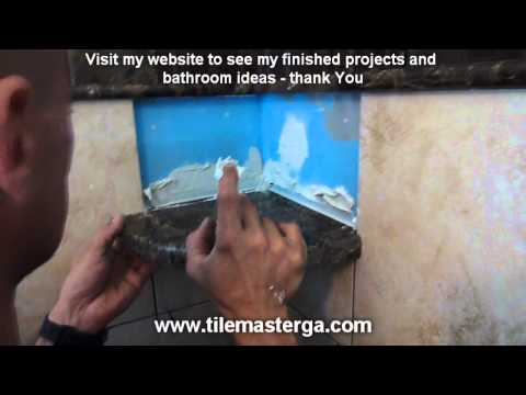 Part 2/2: Bathroom Shower CORNER SHELF and SEAT installation from scratch - how to do it right !!