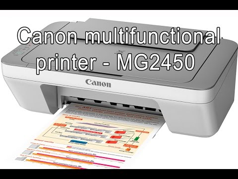 Canon Pixma MG2450 Multifunctional printer for office, school, presentations, charts, full review