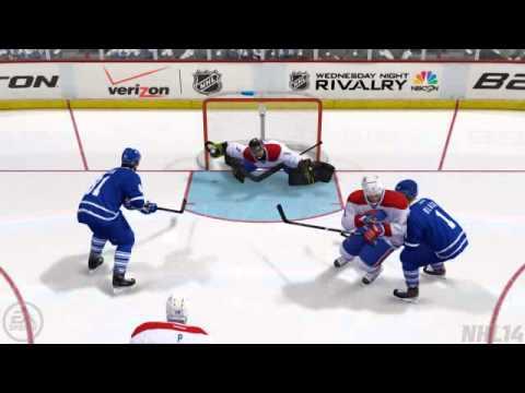 NHL14 - Goalie Sprawling Glove Save