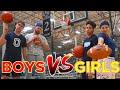 BOYS Vs GIRLS Basketball Trick Shot HORSE Battle