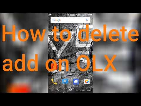 How to delete add on olx
