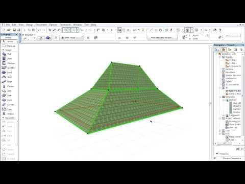 Complex roofs in ARCHICAD - Creating multilevel roofs